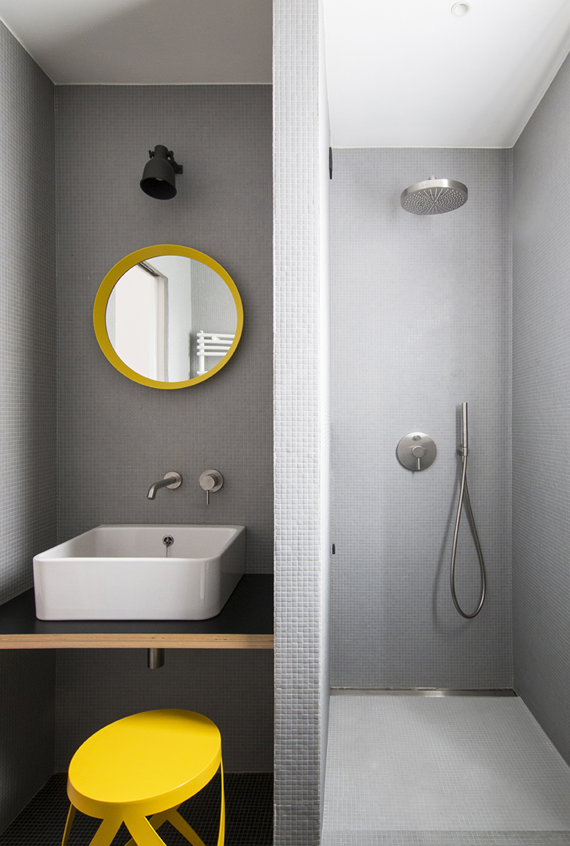 Kickoffice interiors designer architect casadf bathroom shower sink ikea cappellini fantini nendo