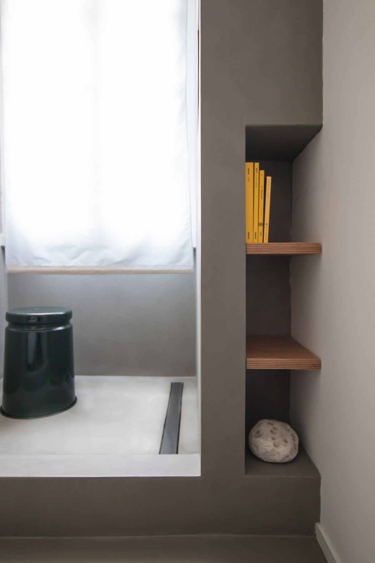kickoffice casa a bathroom epoxy shelving shower stool