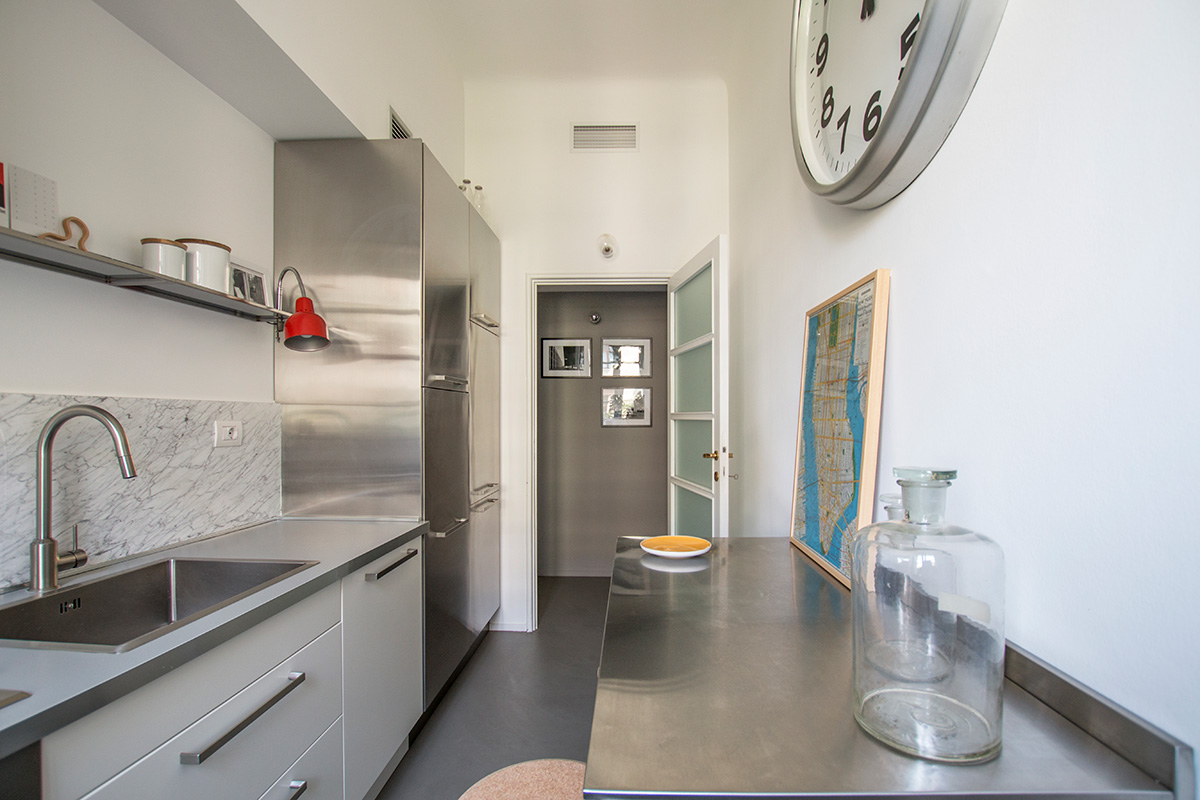 kickoffice casa a kitchen marble steel