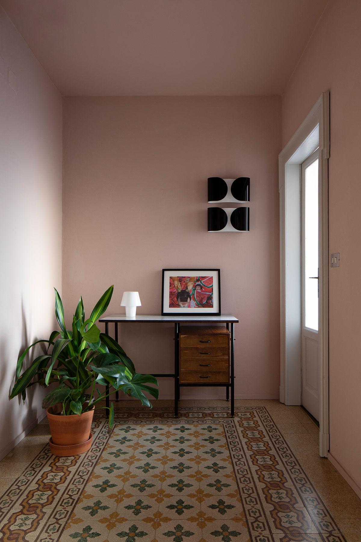 kickoffice casa da hallway vintage terrazzo marmette pink