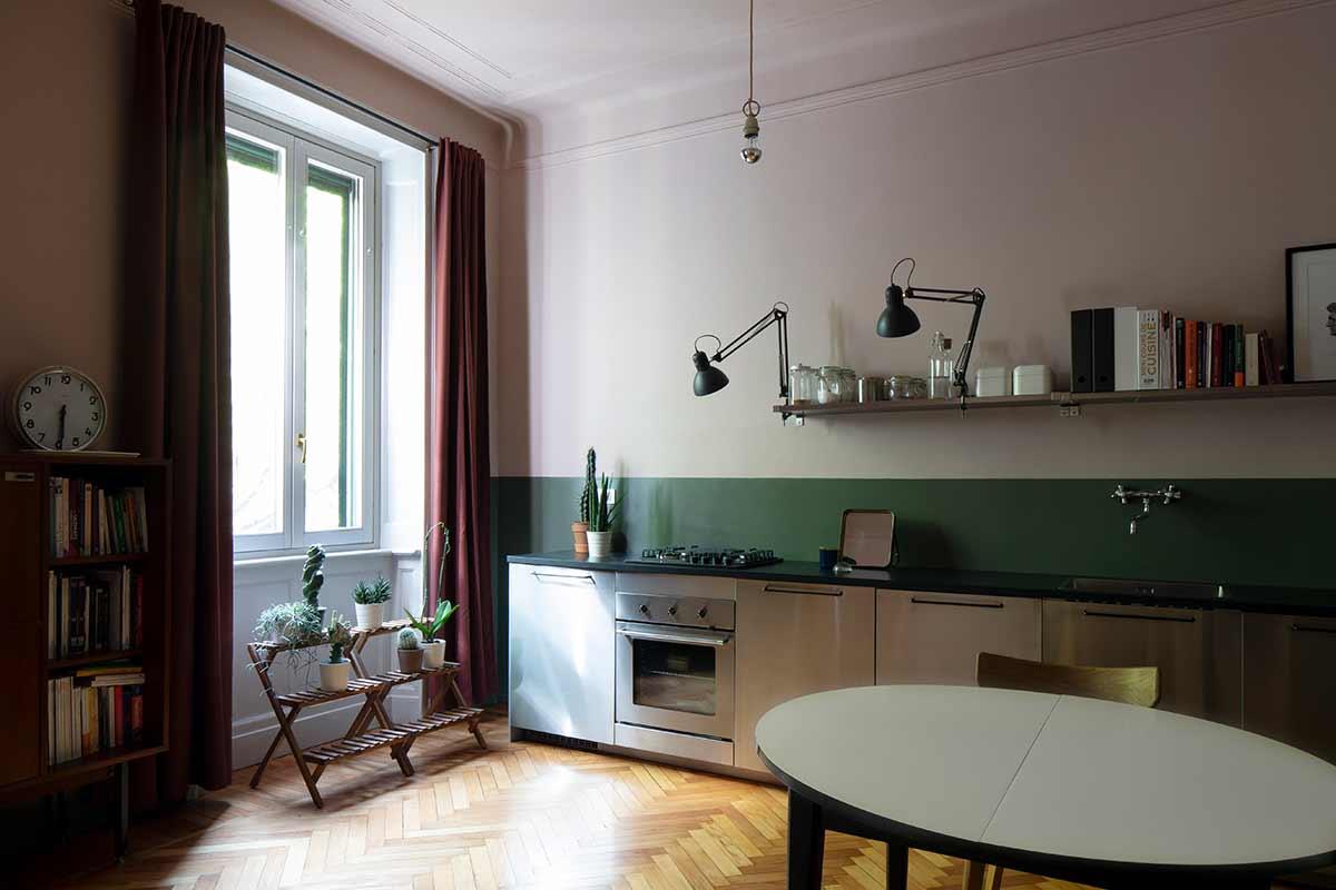 kickoffice casa da kitchen wood green window stainlesssteel