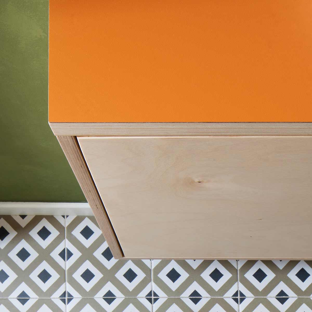 kickoffice casa dgp bathroom sink top orange wood tiles floor