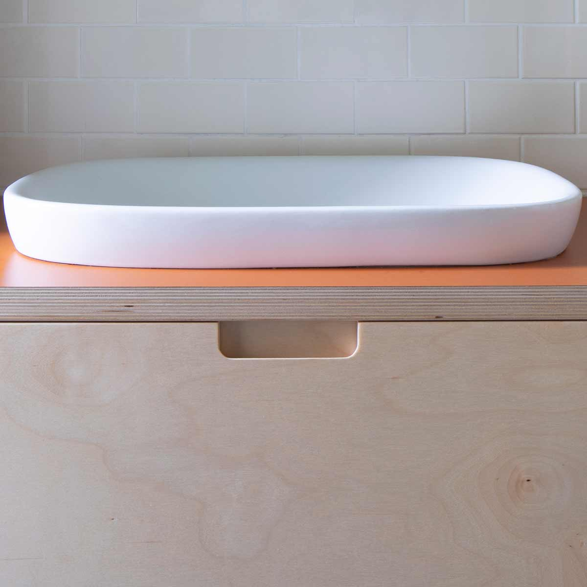kickoffice-casa dgp bathroom sink top orange wood tiles