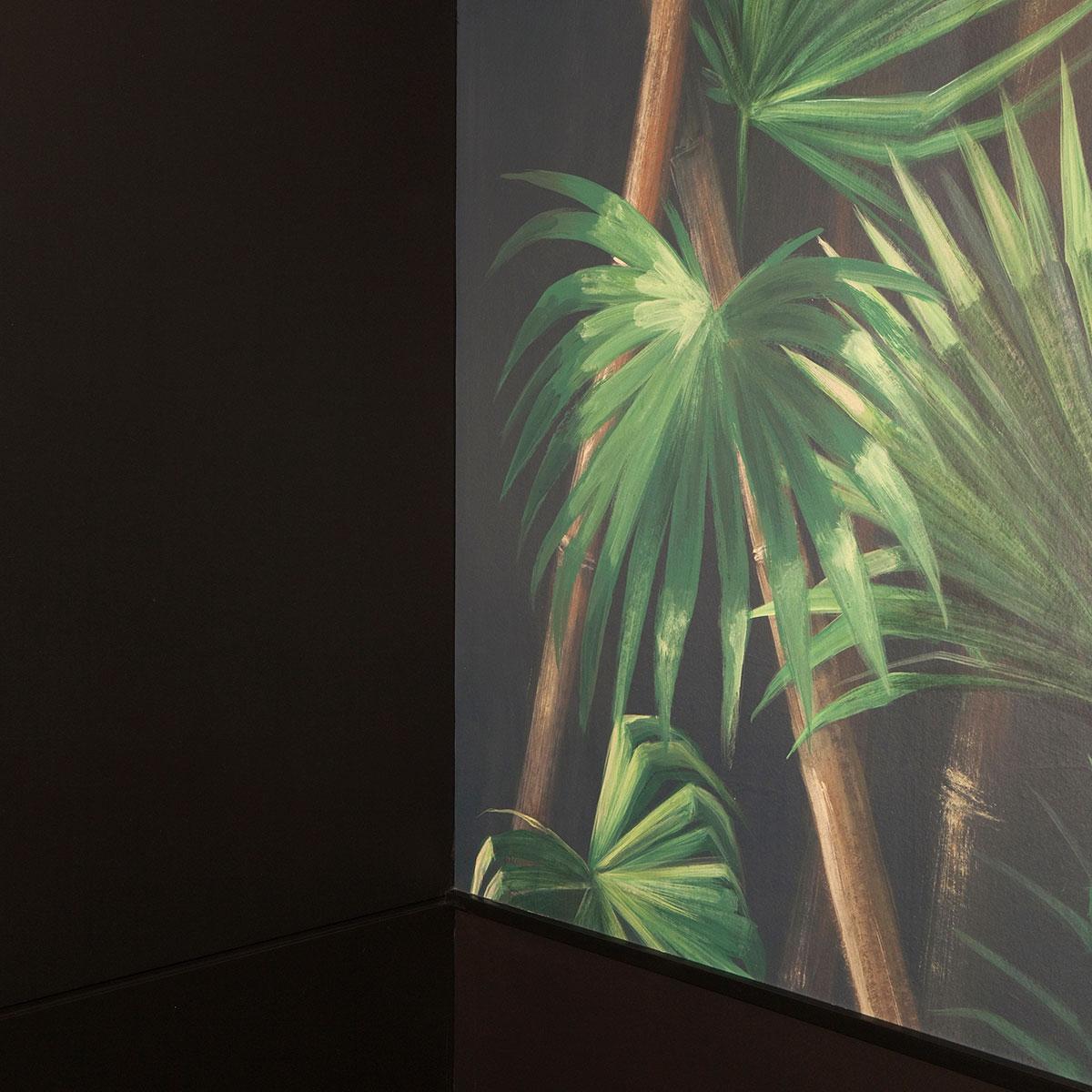 kickoffice casa dgr bathroom wallpaper leaves bamboo kerakoll pictalab