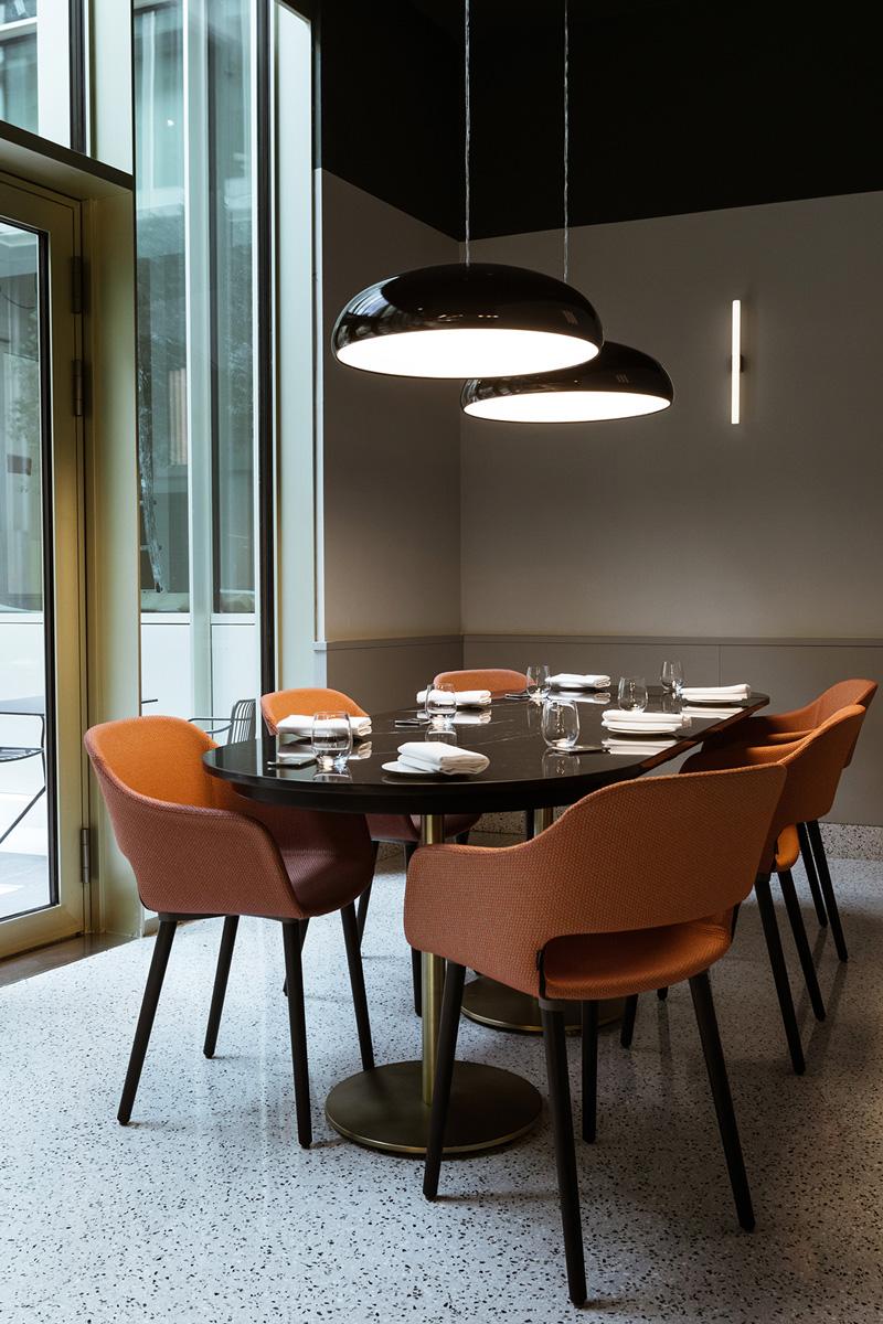 kickoffice opencolonna restaurant aeffe pedrali zangra
