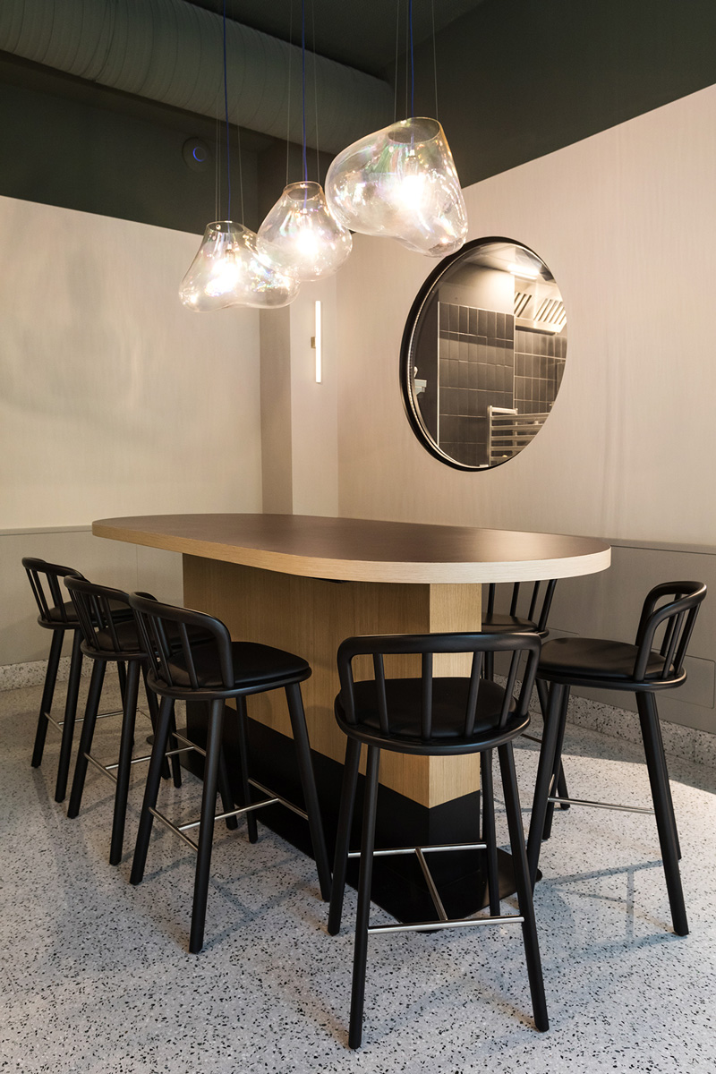 kickoffice opencolonna restaurant fontanaarte oblo kitchen pedrali