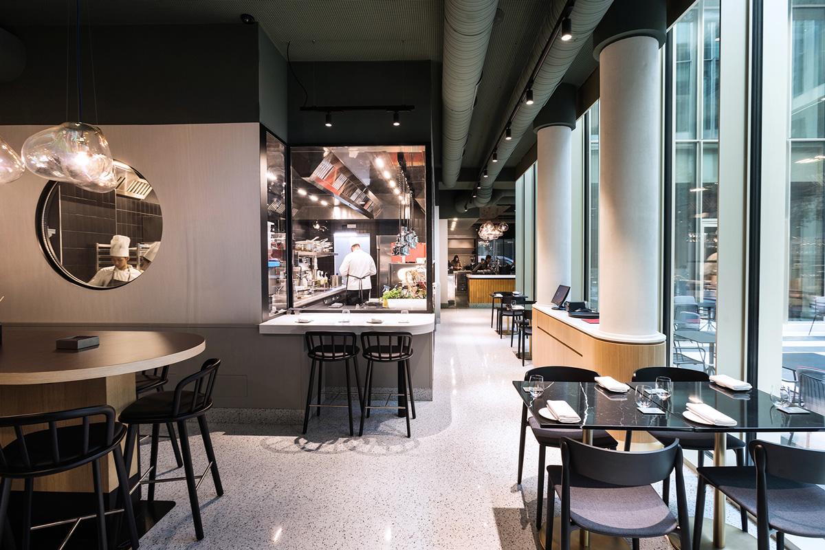 kickoffice opencolonna restaurant kitchen window pedrali fontanaarte oblo