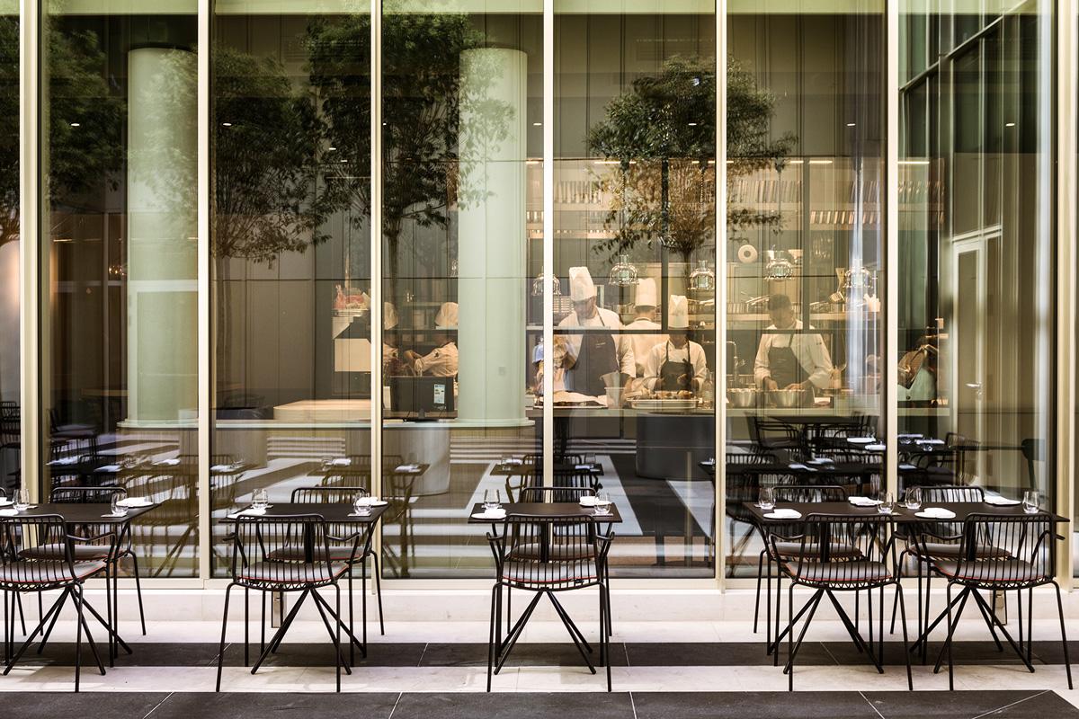 kickoffice opencolonna restaurant outdoor kitchen pedrali aeffe