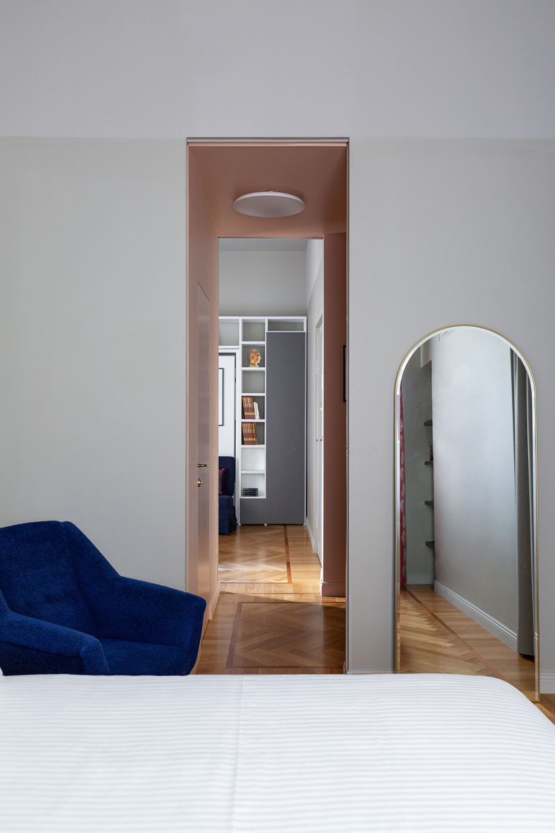 kickoffice broggi apartments bedroom livingroom corridor