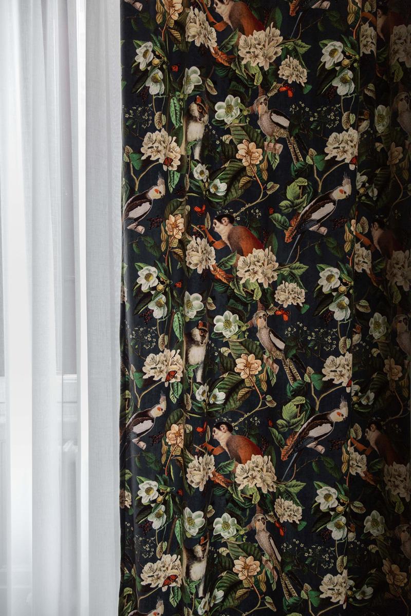 kickoffice broggi apartments curtain texture detail