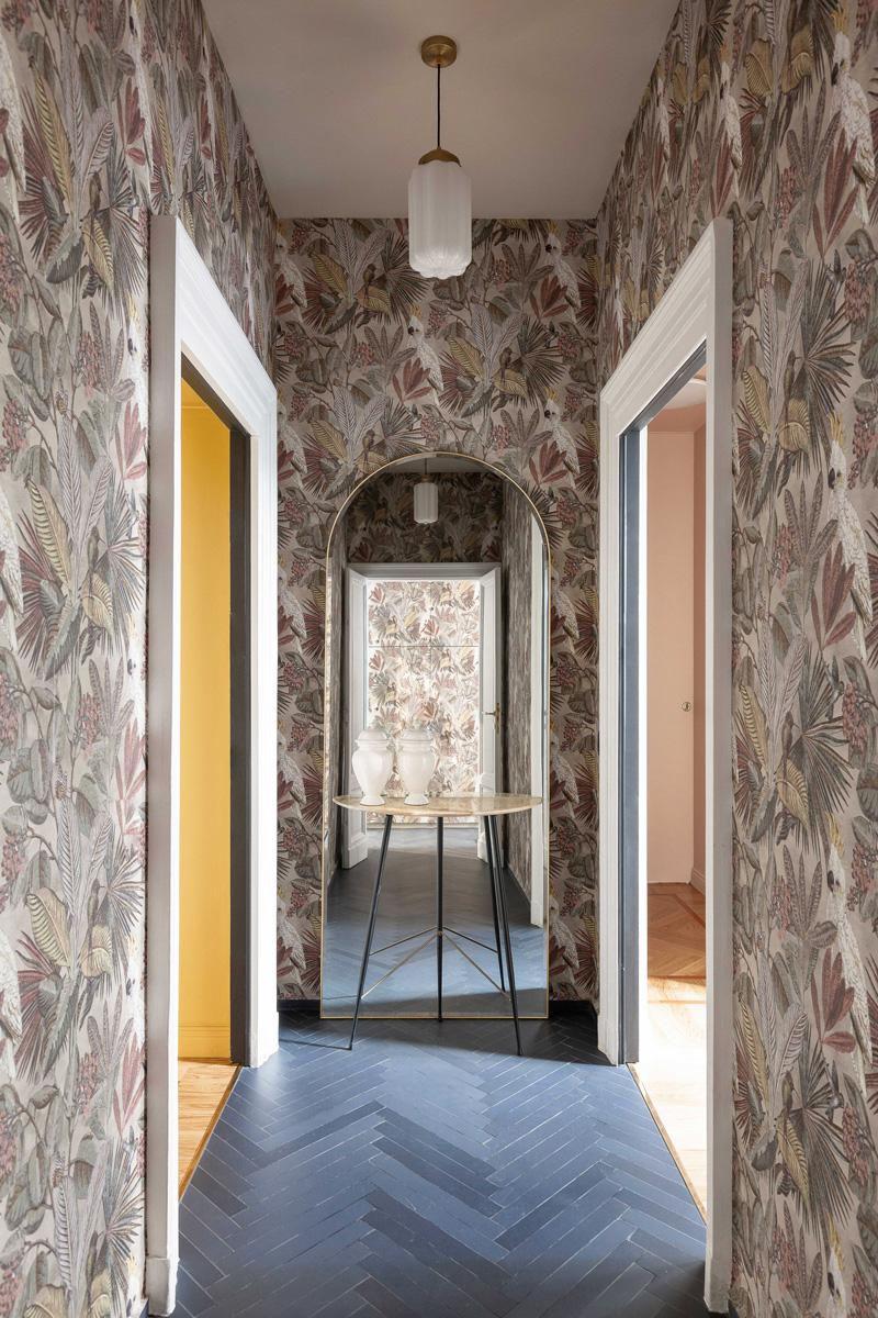 kickoffice broggi apartments hallway entrance wallpaper mutinaceramics