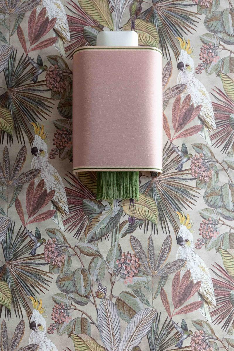 kickoffice broggi apartments hallway wallpaper lamp applique pink bespoke
