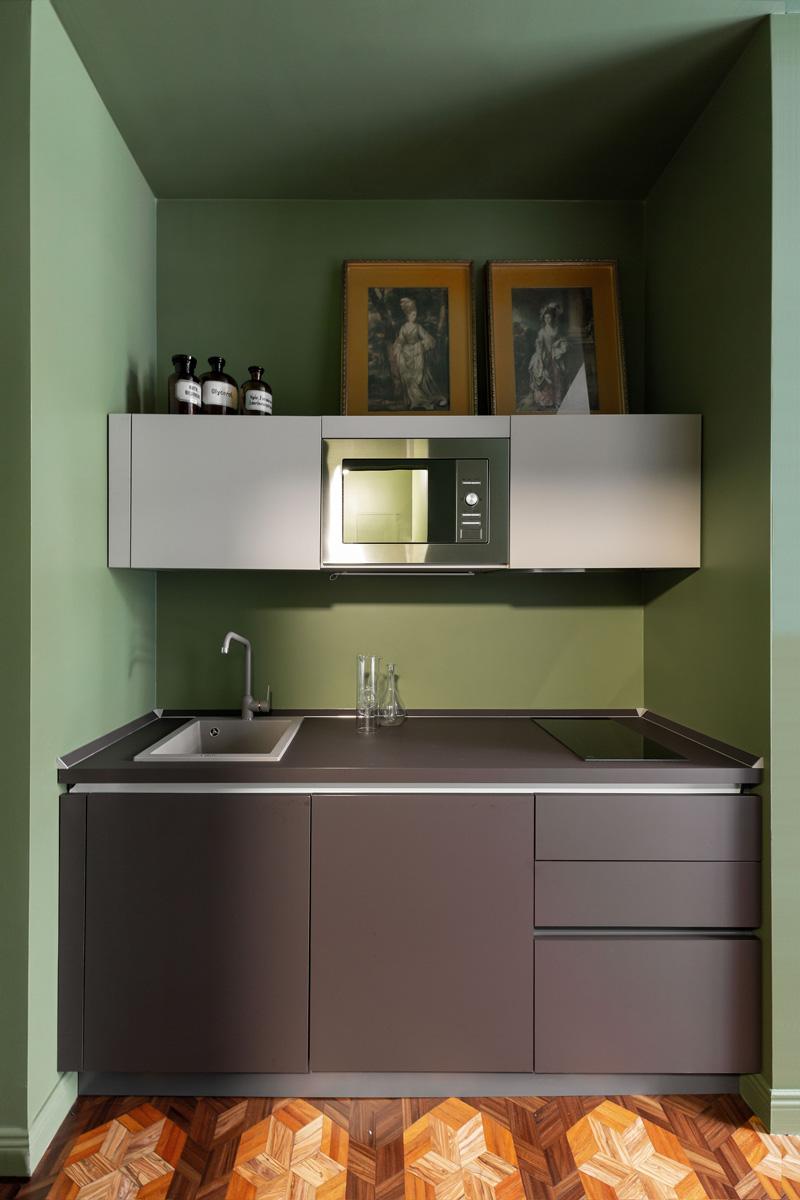 kickoffice broggi apartments kitchen green interiors