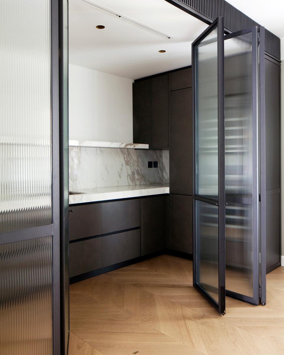 kickoffice casa dgr oak kitchen marble calacatta steel glass door