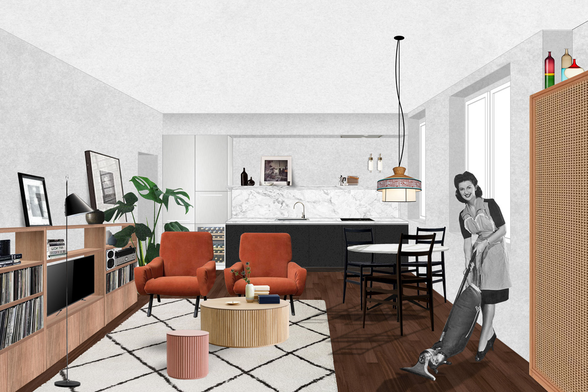 kickoffice casa sm collage livingroom kitchen