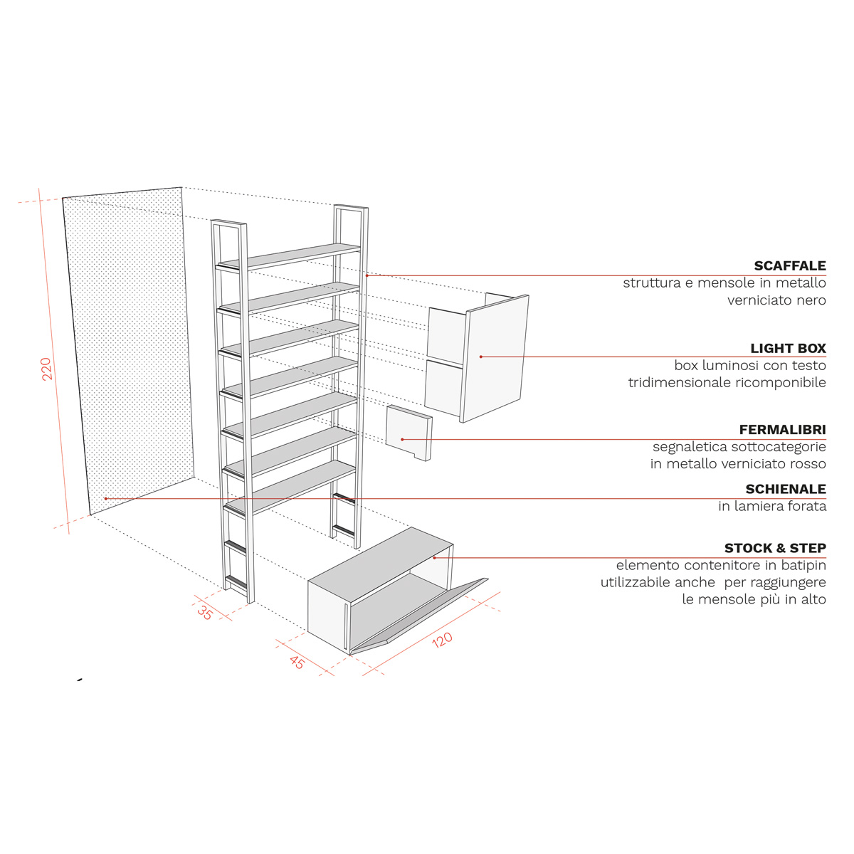 kickoffice mondadori competition store library forniture