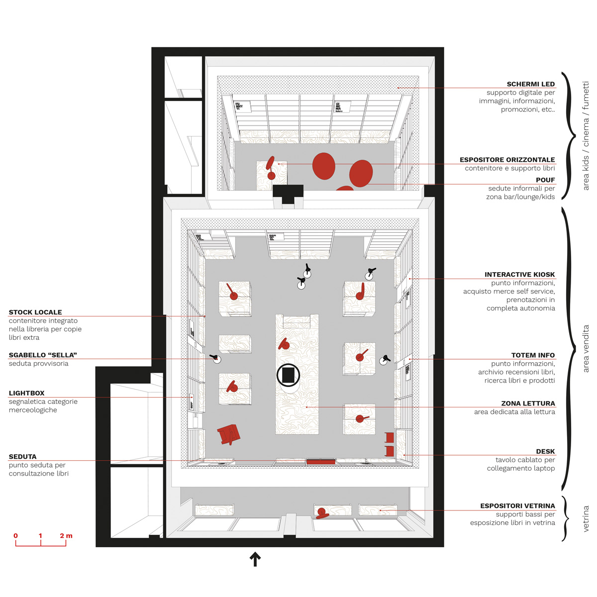 kickoffice mondadori competition store library plan
