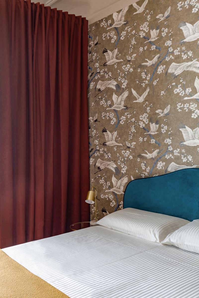 kickoffice settembrini rooms bedroom curtain wallpaper