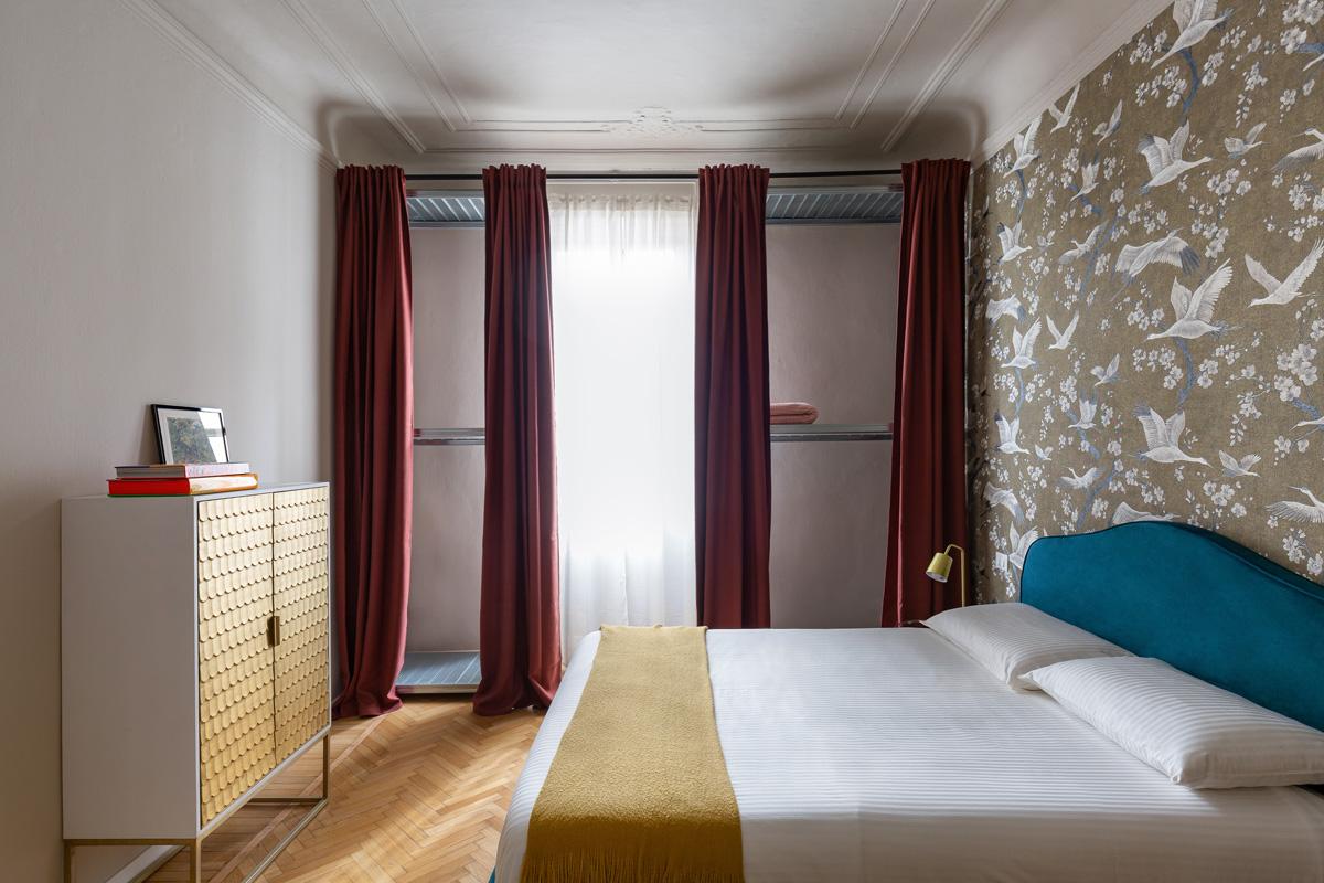 kickoffice settembrini rooms bedroom curtain wardrobe steel structure