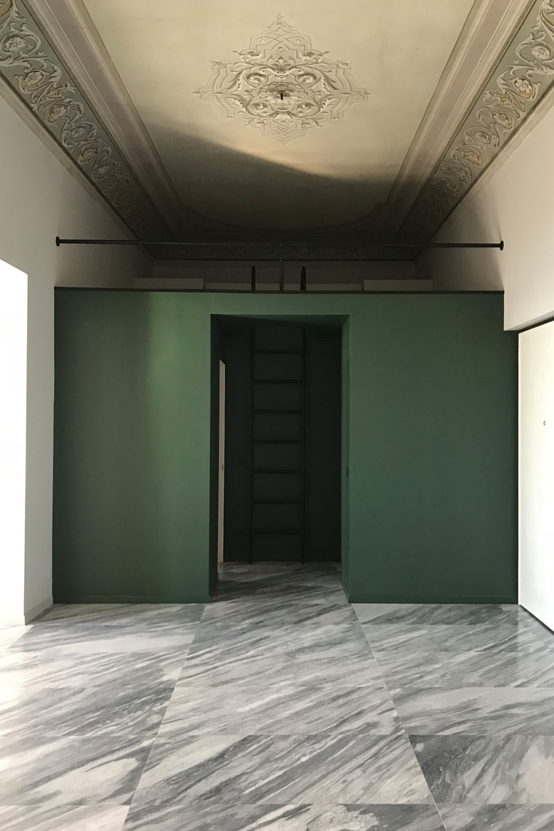 kickoffice villa n4 1 box green stair ceiling