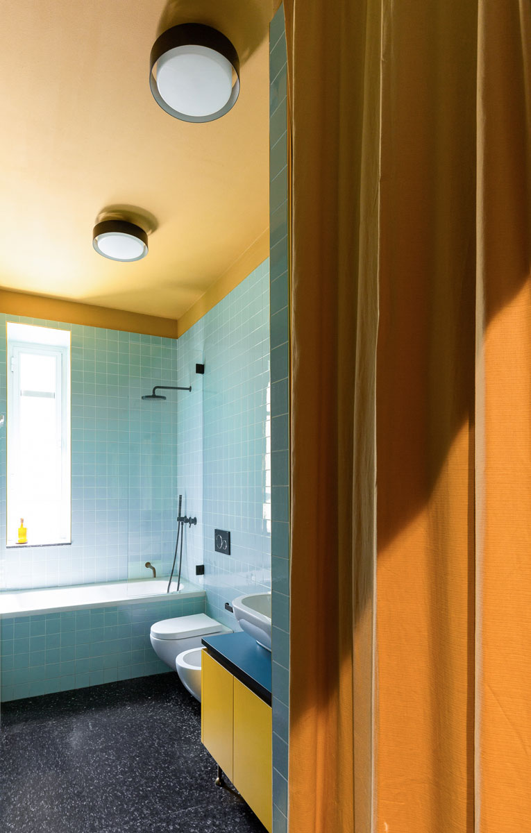 kickoffice casa cb bathroom curtain colors yellow blue tiles mariotti