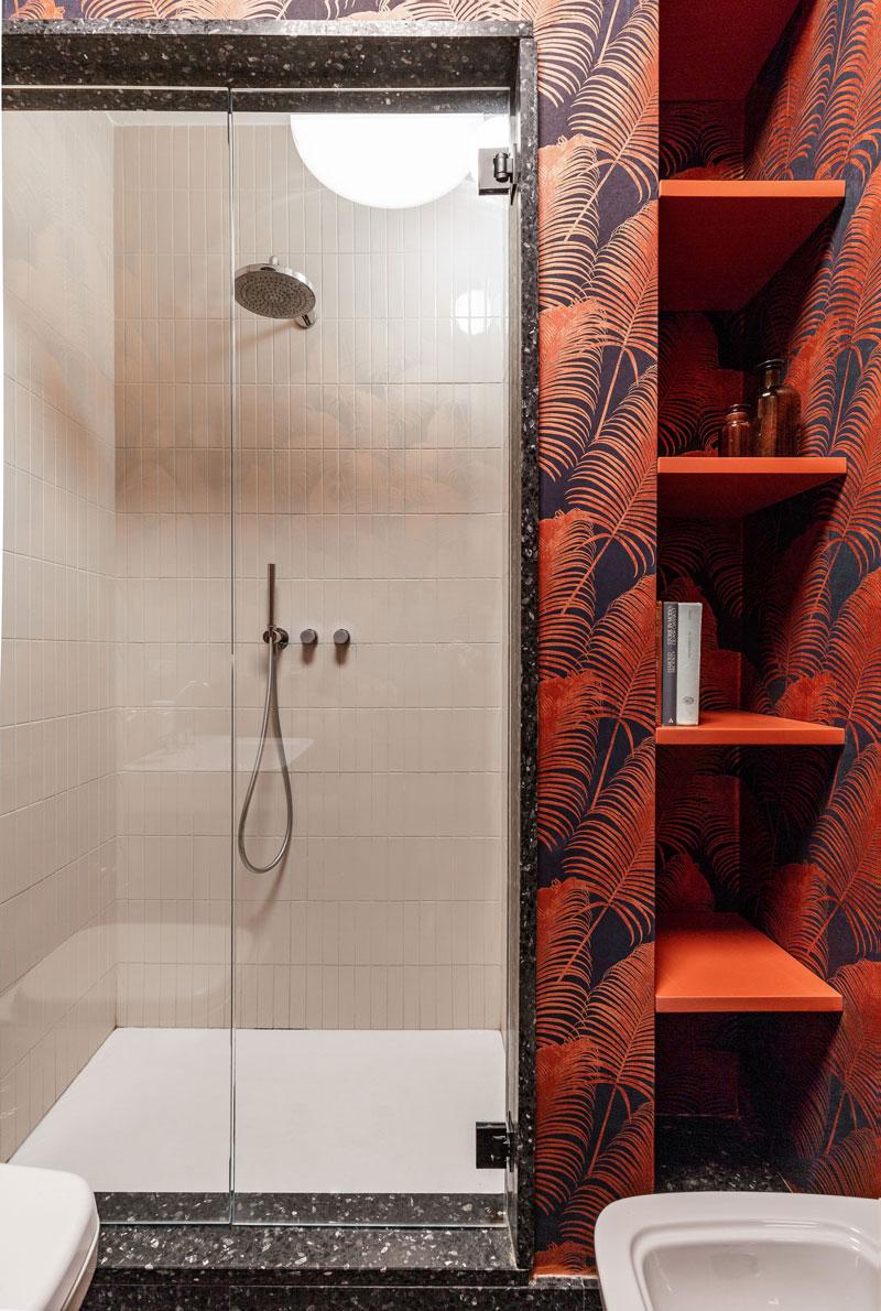 kickoffice casa cb bathroom wallpaper vogue shower shelves bespoke