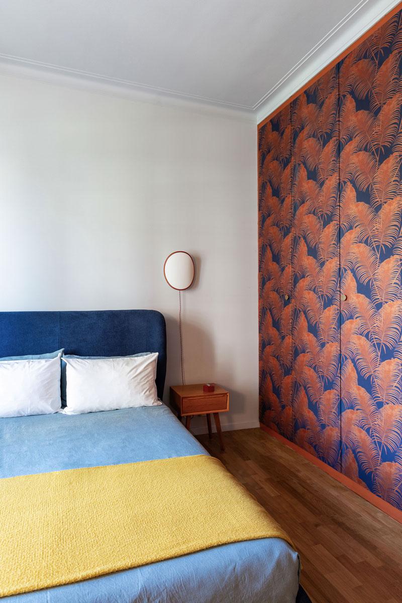 kickoffice casa cb bedroom color wallpaper foliage wardrobe