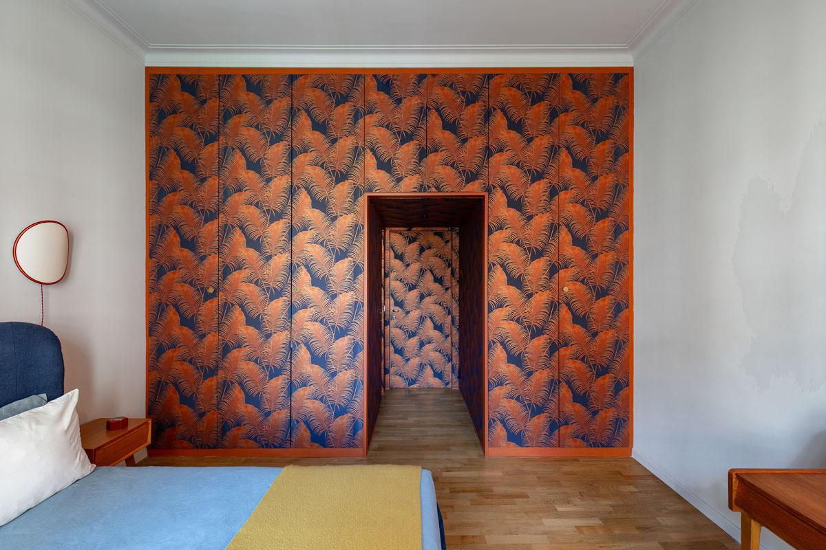 kickoffice casa cb bedroom wardrobe wallpaper entrance