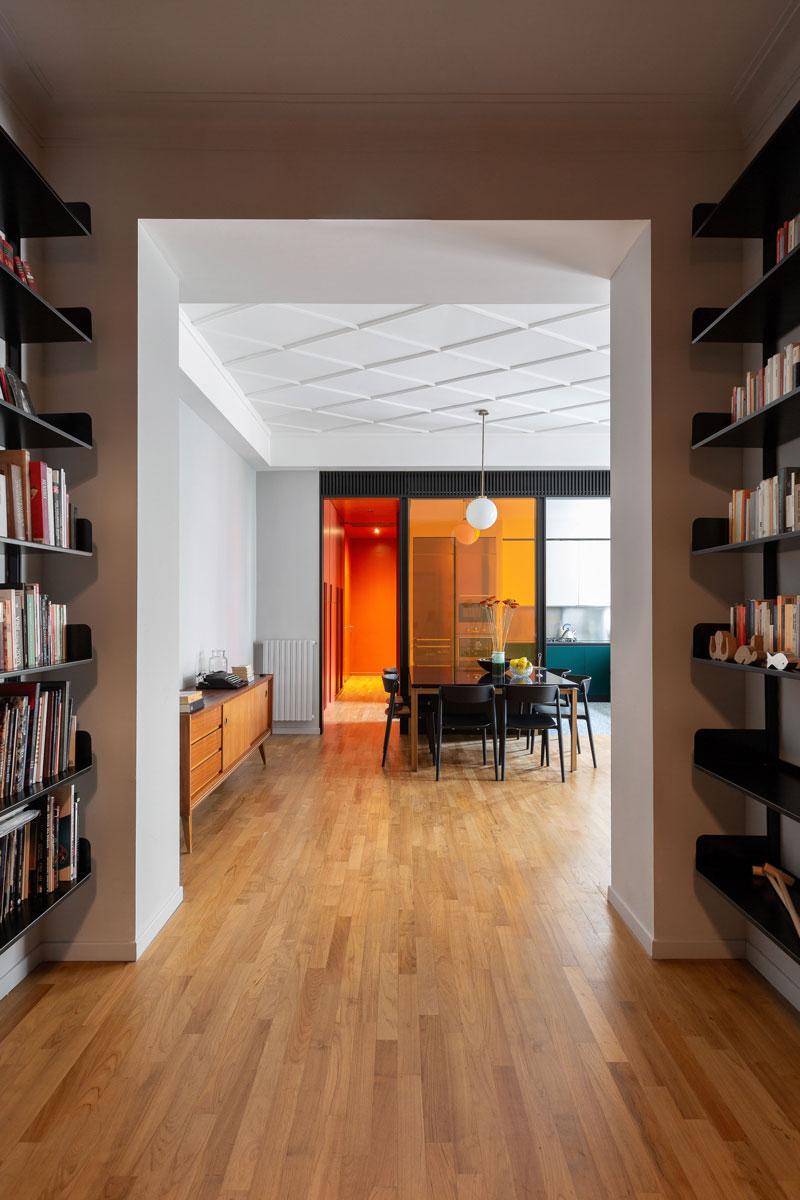 kickoffice casa cb livingroom entrance library parquet dining