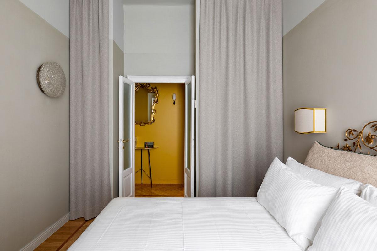 kickoffice broggi apartments bedroom curtain wardrobe vintage hallway palette yellow